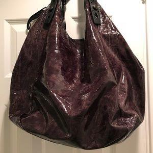 Givenchy Brown/purple/gray Soft Patent Leather Bag